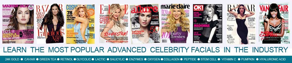 Learn the Most Popular Advacned Celebrity Facials in the Industry